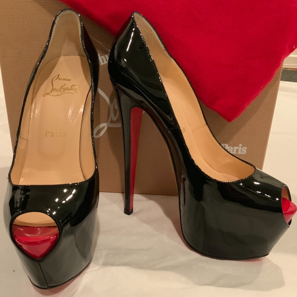 c2374087846 Christian Louboutin Highness Patent Black Platform Boutique
